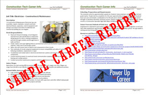 Sample Career Page Research Report