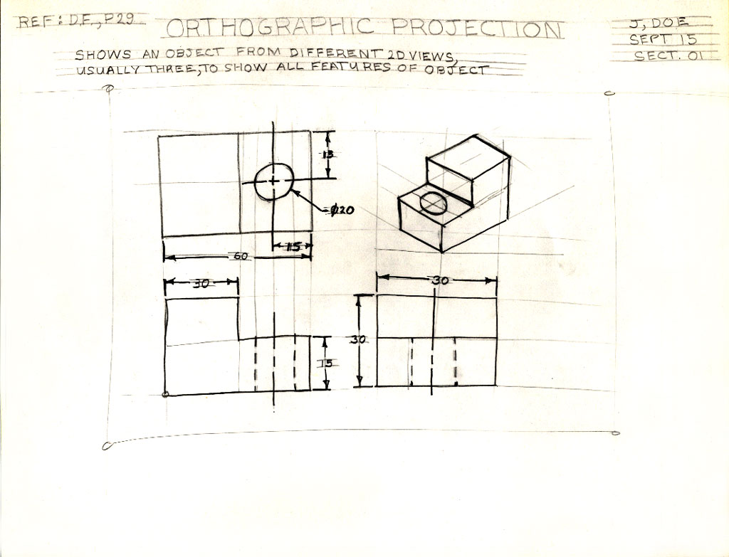 Unit 1 Sketching Orthographic drawings Isometric drawings – Orthographic Drawing Worksheets